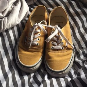 Yellow mustardish color Vans